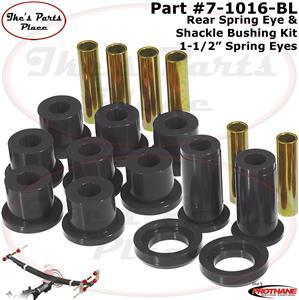 Prothane 17-1002-BL Black Spring Eye and Aftermarket Shackle Bushing Kit