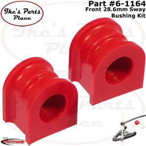 Prothane 6-1135 Red 27 mm Front Sway Bar Bushing Kit