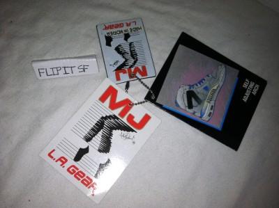 Vtg La Gear MJ Runner Michael Jackson Billie Jean Shoes Thriller Moon