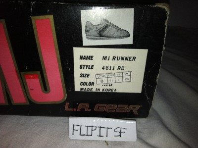 Vtg La Gear MJ Runner Michael Jackson Billie Jean Shoes Thriller Moon