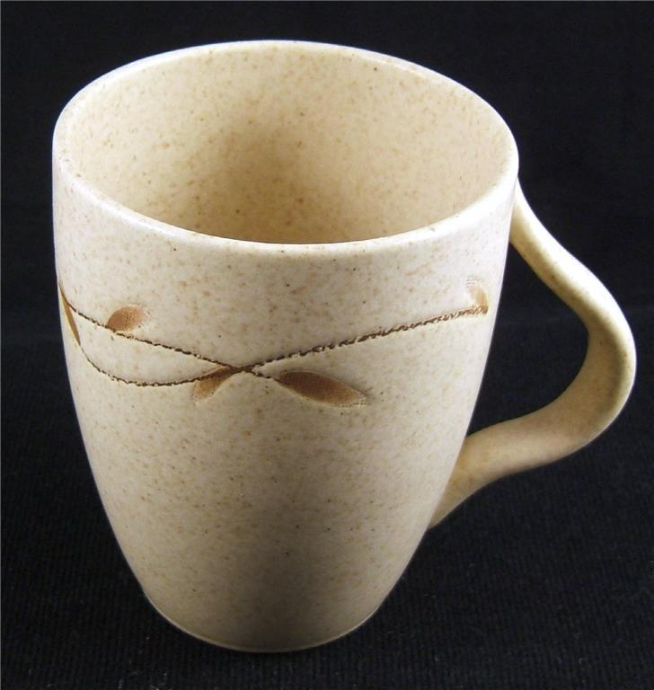Pottery Barn Willow Beige Coffee Mug Ebay