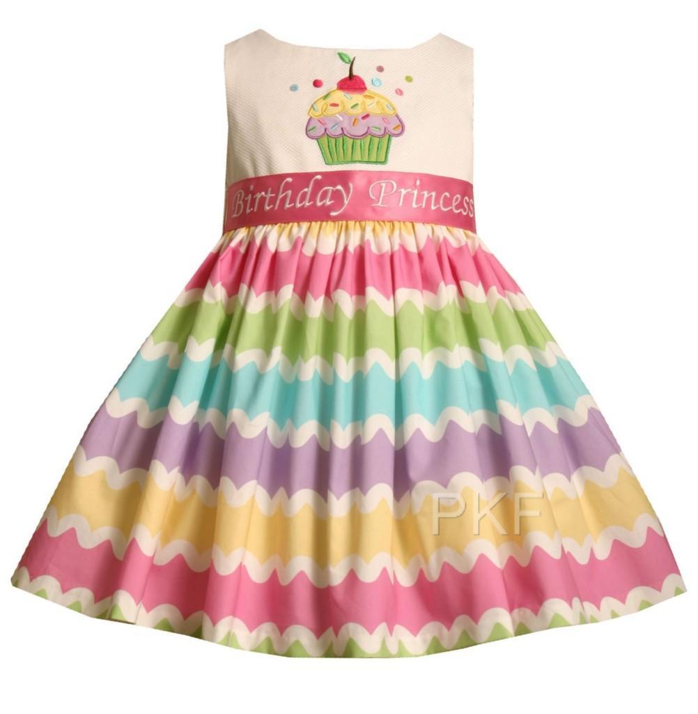 """NEW Baby Girls """"RAINBOW CUPCAKE"""" Birthday Dress 2T NWT"""