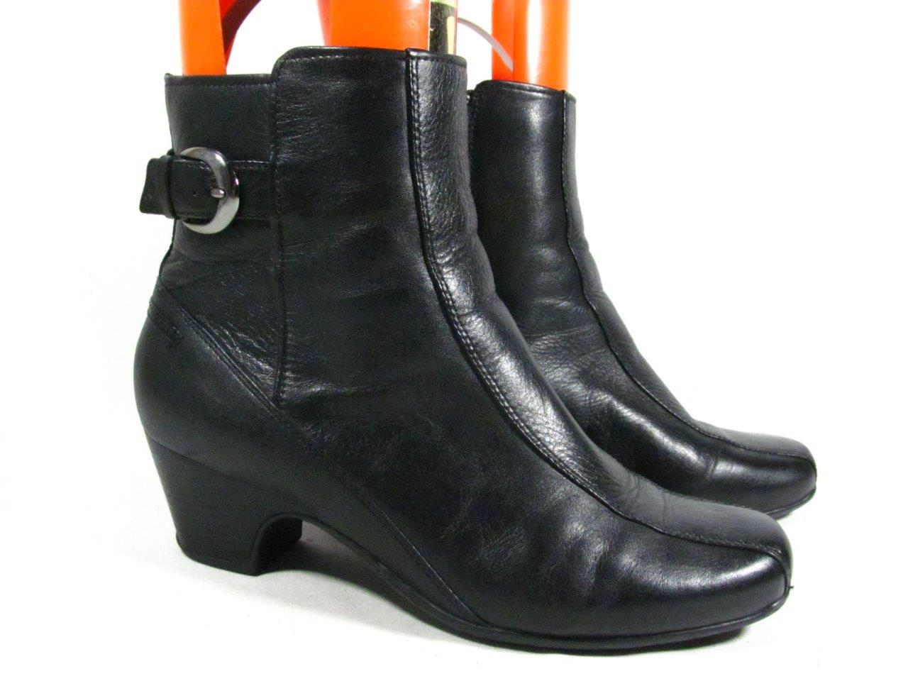 clarks ankle boot size 10 wide black leather ebay