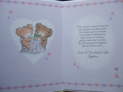 Wedding Verses Cards On Quality Day Card With Fabulous Ebay