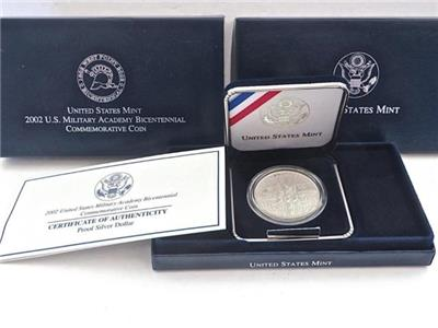 2002 W West Point Bicentennial Proof Commemorative 90/% Silver Dollar OGP US Coin
