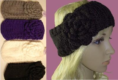 d1b29656010 Crochet Headband Head Hair Band Winter Ear Warmer Knit Knitted ...