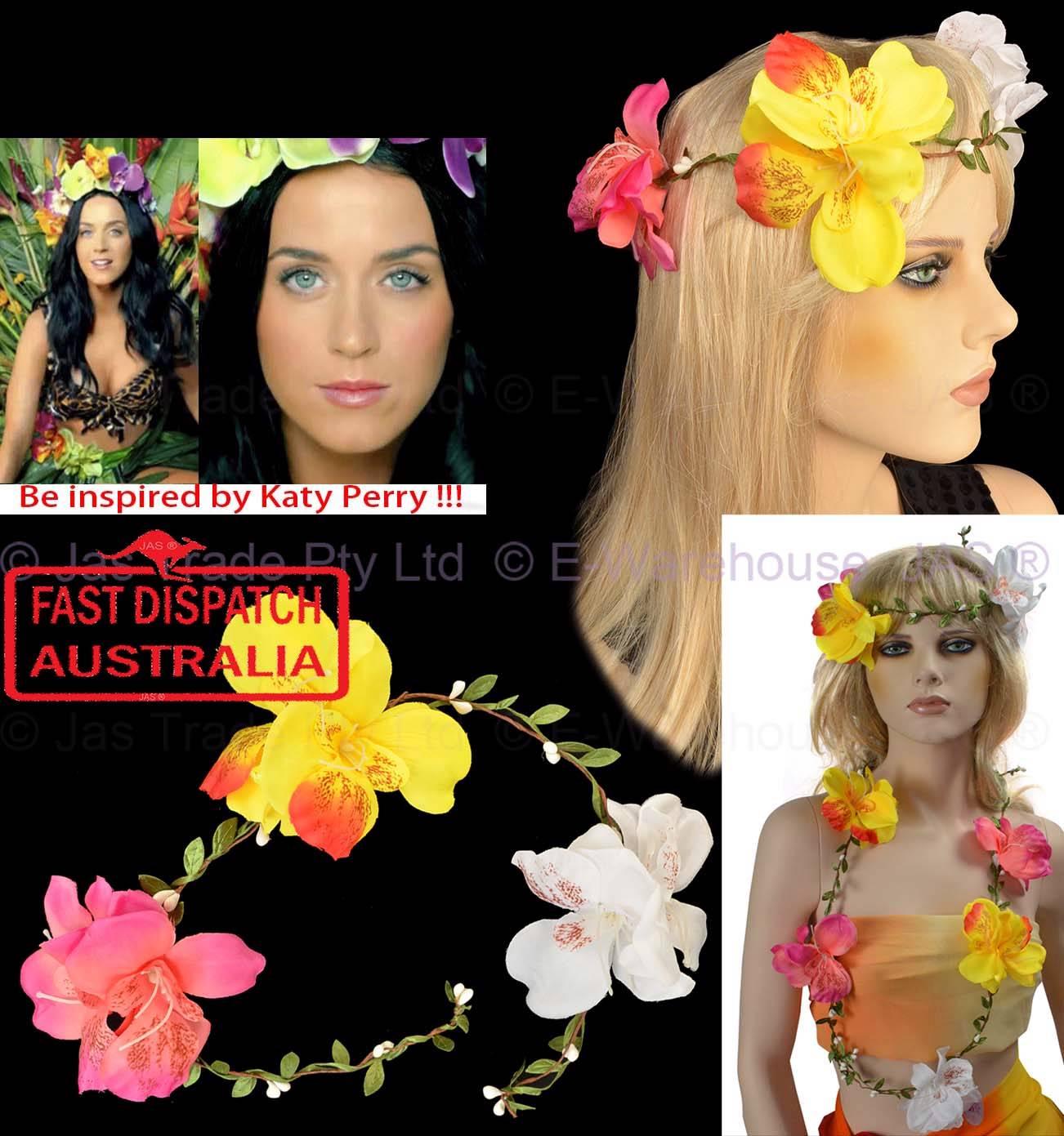 1 Hawaii Hawaiian Hula Fancy Dress Costume Flower Lei Necklace