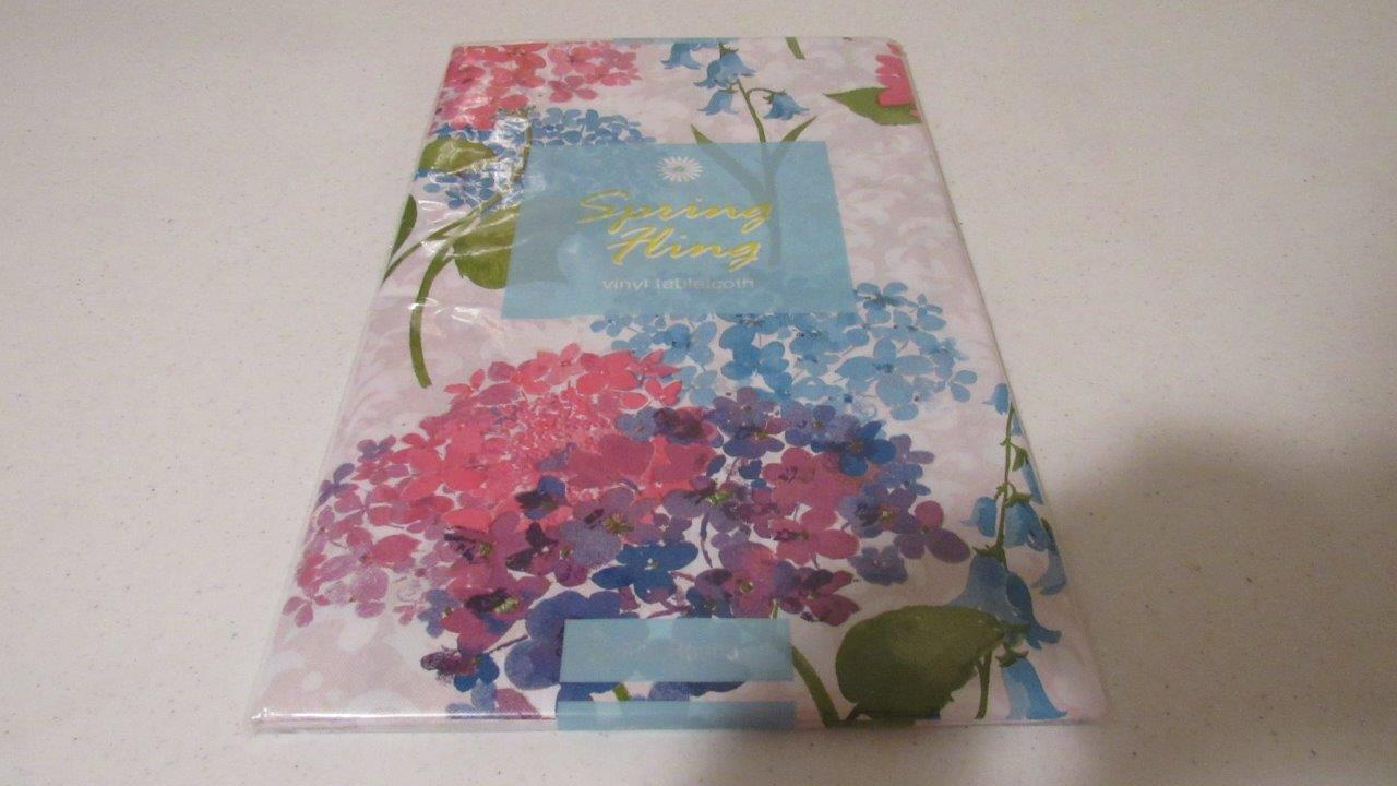Vinyl Tablecloth Flannel Back Floral Designs 11 Styles