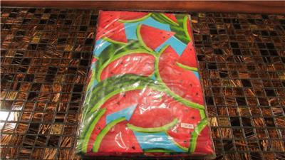 Vinyl Tablecloth Flannel Back Plaid Birds Flowers 8 Styles