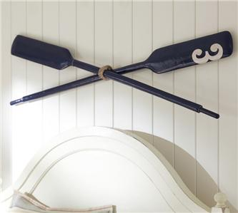 Pottery Barn Navy Oars Ebay