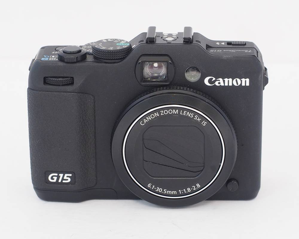 canon powershot g15 digital camera exc used w acc ebay. Black Bedroom Furniture Sets. Home Design Ideas