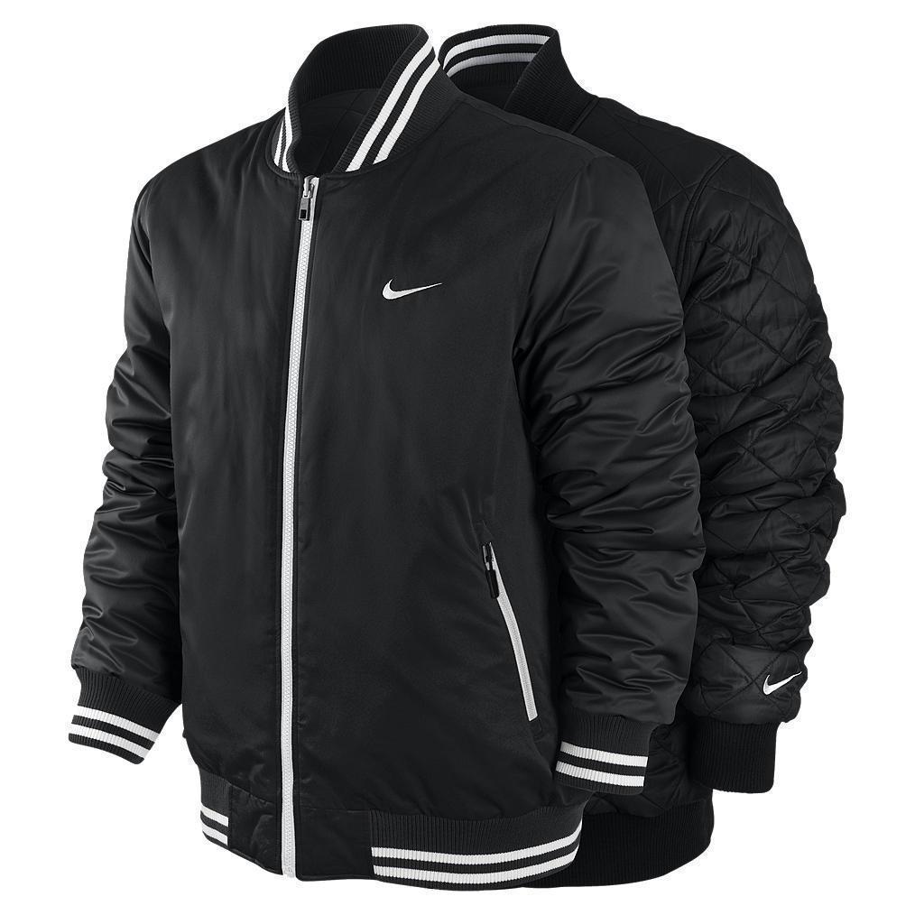 Nike Black Men's Reversible Padded Ad Varsity Jacket M L