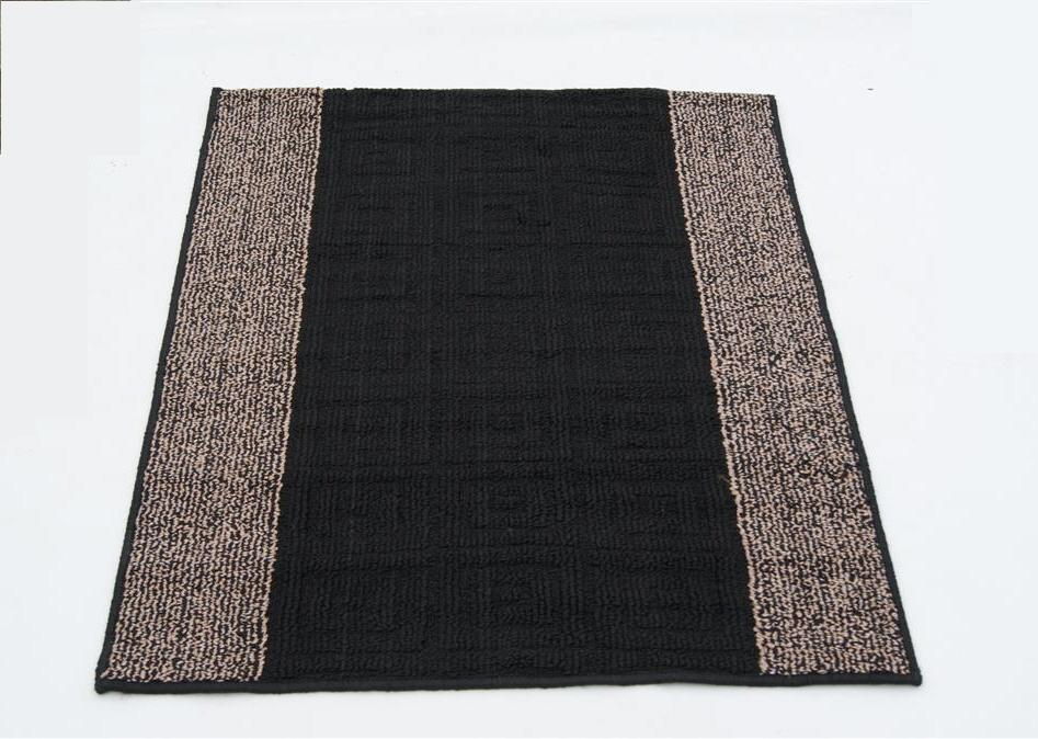 Non Slip Washable Utility Mats Rugs Black Brown Wine 80 X