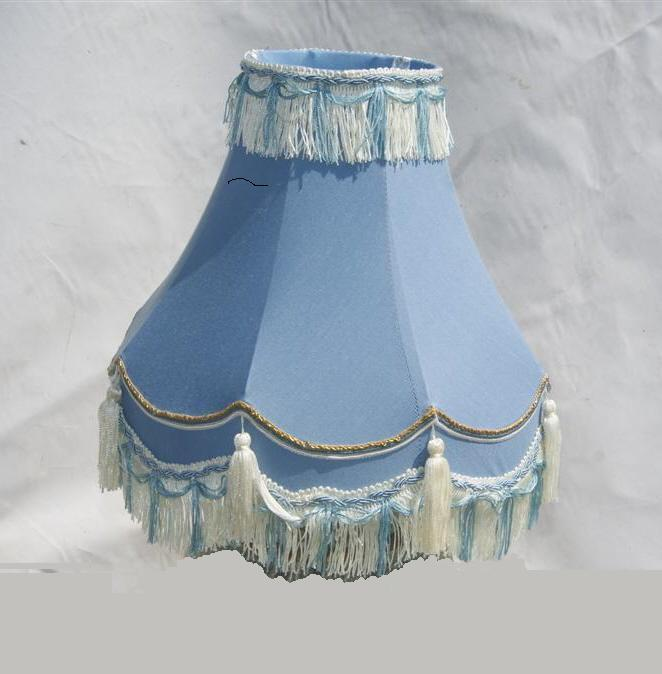 "12"" 14"" 16"" TRADITIONAL FULLY LINED TABLE LAMP SHADES BLUE ..."