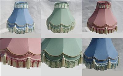 12 Quot 14 Quot 16 Quot Traditional Fully Lined Table Lamp Shades Blue