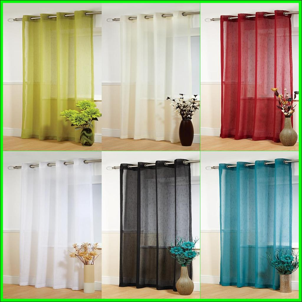 Plain Voile Curtain Panel Rod Pocket Net Slot Top FREE 1ST CLASS ... for Coloured Net Curtains  53kxo