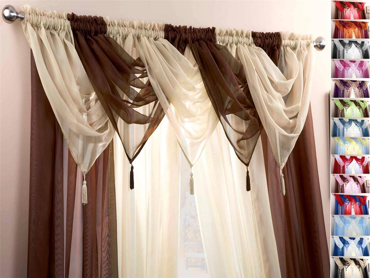 taupe panel on lush ivory panels garden curtain decor prima pair shipping home curtains product free