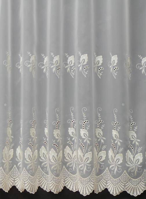 simone cream voile curtain made to measure voile any size. Black Bedroom Furniture Sets. Home Design Ideas