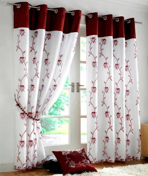 ALICE LINED VOILE RING TOP EYELET CURTAINS