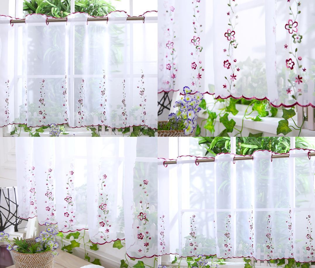 Kitchen Curtains Designs: Kitchen Voile Cafe Net Curtain Panel