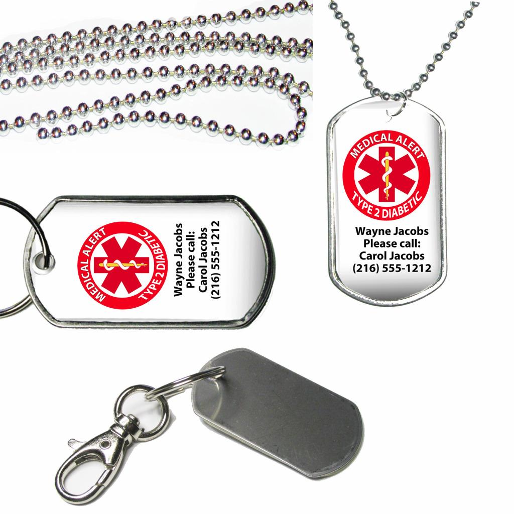 Personalised Telephone Number Emergency Contact Keyring or Bag Zip Clip