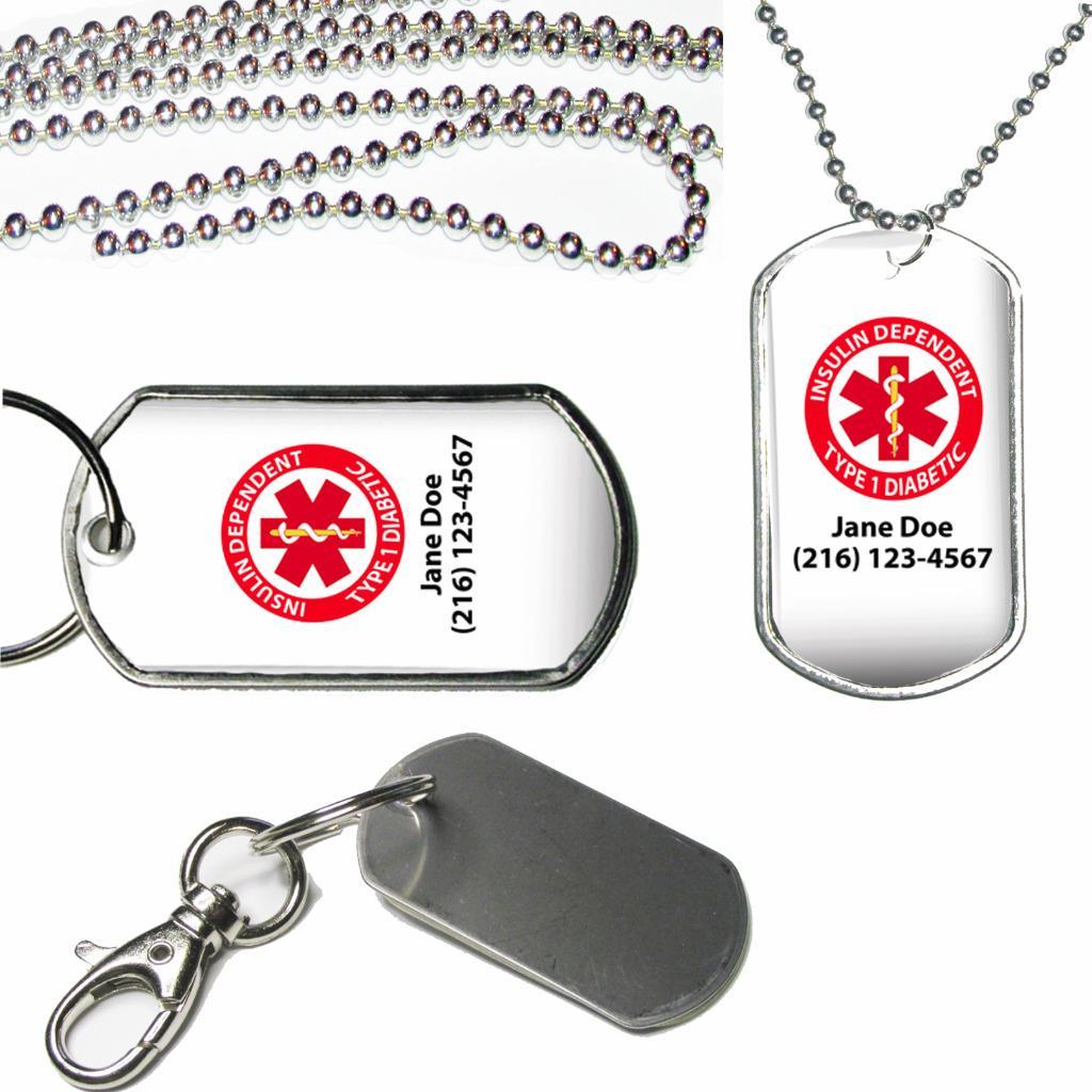 Type 1 Diabetic T1D Resin Keychain