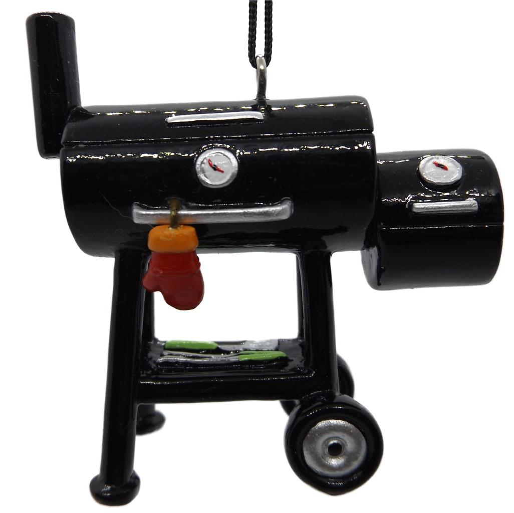 On Holiday Black BBQ Grill Smoker Cooker with Side Burner an