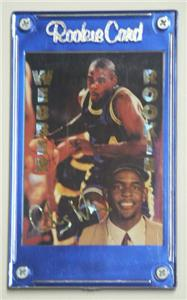 1994 Chris Webber Rookie Gold Foil Sports Stars Card On