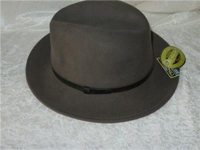 7591bdb66f9 Dorfman Pacific Co DPC Crushable Scala Wool Felt Hat