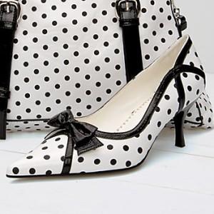 ASHRO Brand New Womens Polka Dot Roxanne Heel Shoe Size 10 M