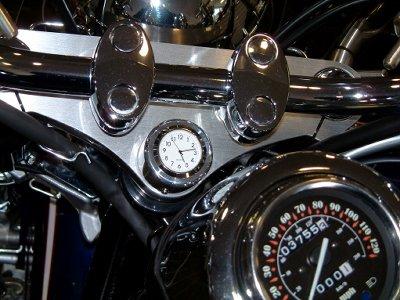 New British Made Honda Yamaha Triumph Etc. Motorcycle Stem Nut Clock