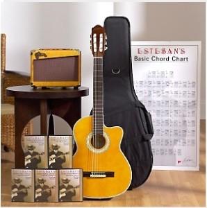 esteban malaguena classical guitar package new ebay. Black Bedroom Furniture Sets. Home Design Ideas
