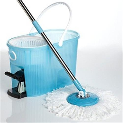 Spin Mop Deluxe Cleaning System With Bucket Amp Microfiber