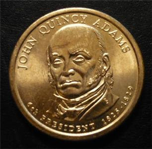 John Quincy Adams 2008d Gold Dollar Type 2 Clad Coin 6th