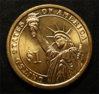 Martin Van Buren 2008d Gold Dollar Type 2 Clad Coin 8th