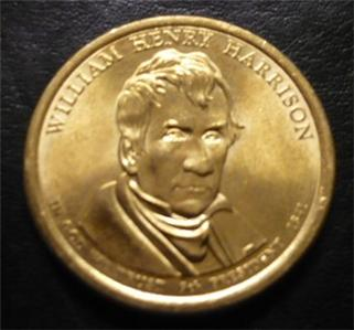 William H Harrison 2009d Gold Dollar Type 2 Clad Coin 9th