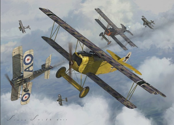 Ww1 Aces Postcards Prints Fokker Dr1 Dvii Albatros