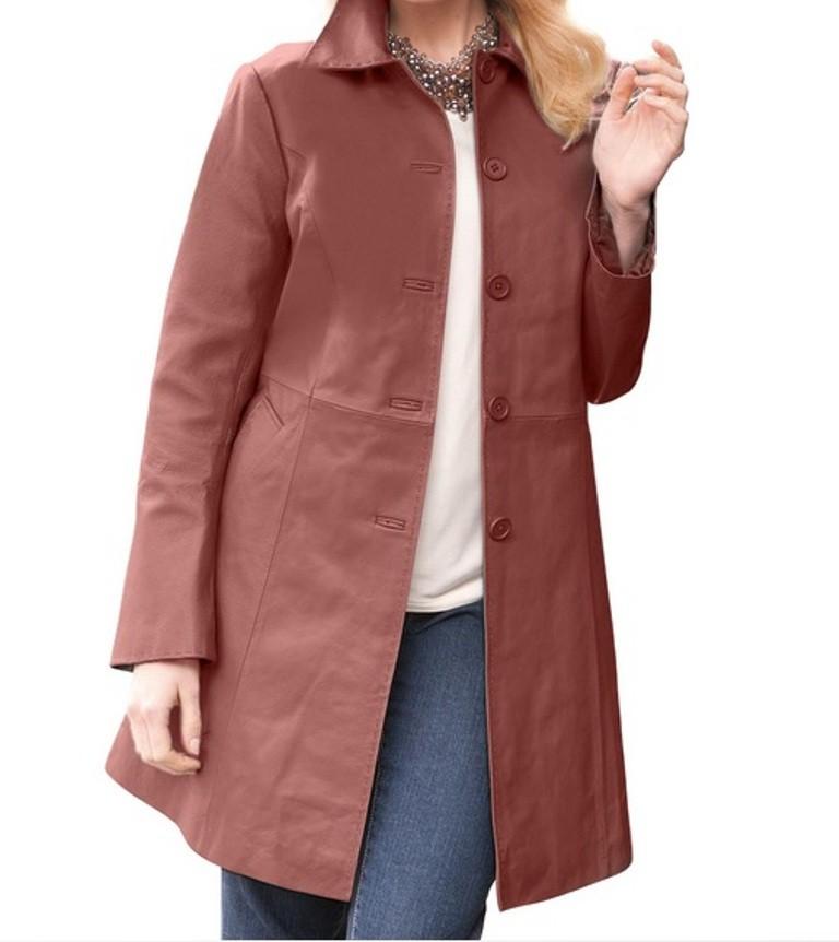 3 4 length leather jacket