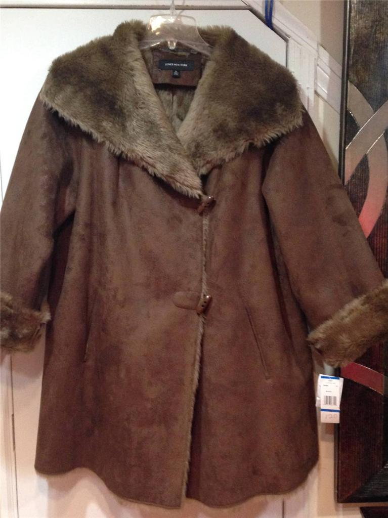Jones New York Authentic Women's Winter Swing faux Suede