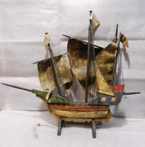 Antique Wooden Santa Maria Nautical