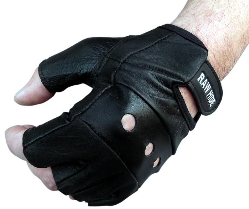 LEATHER FINGERLESS GLOVES CYCLING DRIVING SHOOTING USE | eBay