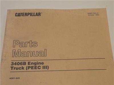 Caterpillar 3406b Engine Manual