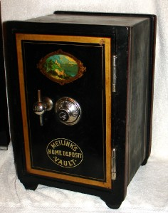 antique miniature iron salesman sample safe meilink co ebay. Black Bedroom Furniture Sets. Home Design Ideas