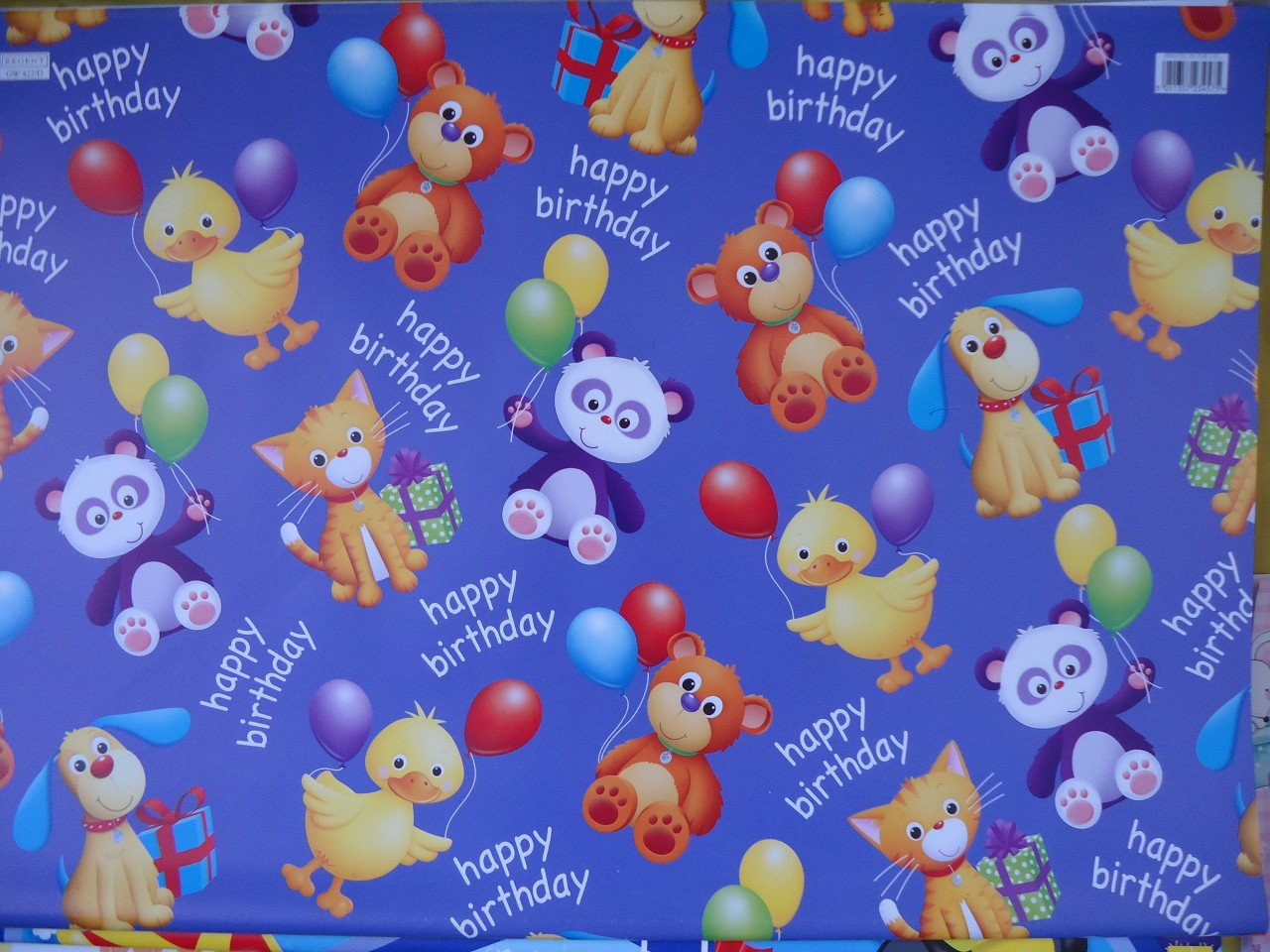 Boys Girls Gift Wrapping Paper 2 Sheets Childrens Baby Kids