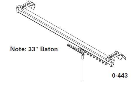 Graber Heavy Duty Traverse Curtain Rod 66 120 Inch Width