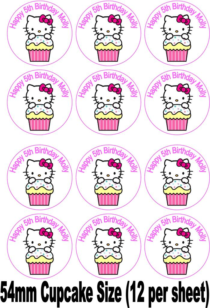 Hello Kitty Printable Cake Topper