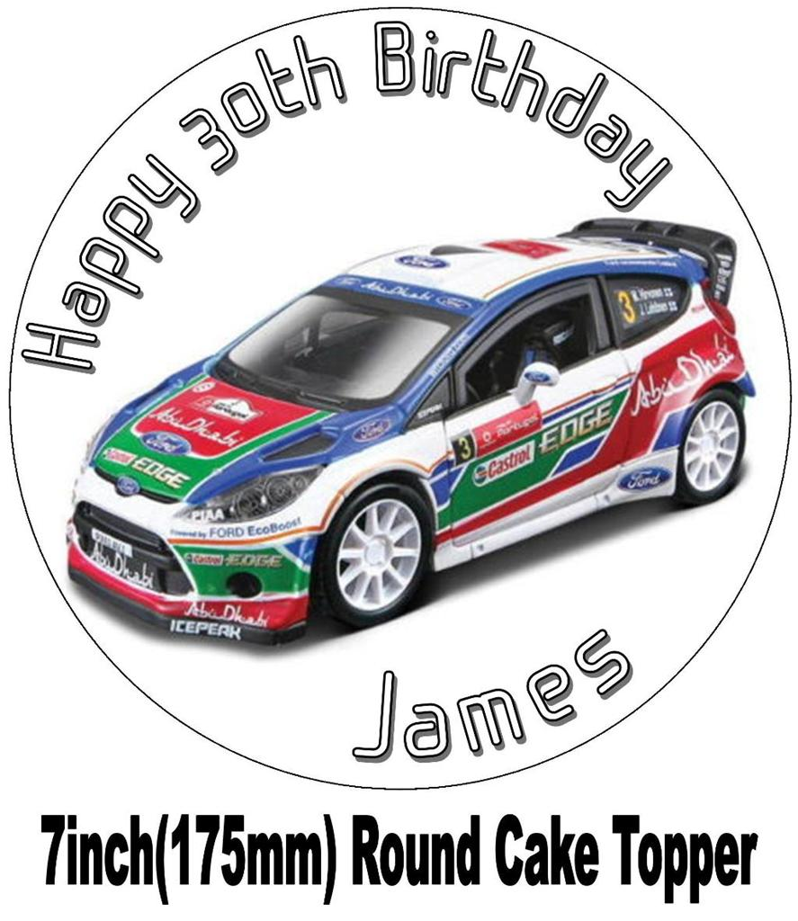 rally car wedding cake topper focus rally car cake topper rice wafer paper choices 18964
