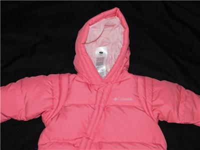 7035f923d Columbia 6 Month Baby Girl Pink Snowsuit Bunting Coat Down Insulated ...