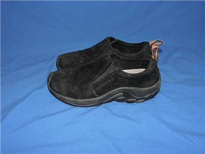 f53388a5ae9f Merrell 8.5 Midnight Black Jungle Moc Suede Leather Shoes Slip On 8 ...