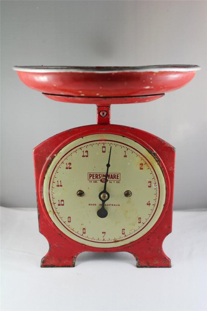 Vintage Industrial Retro Persinware Kitchen Scales